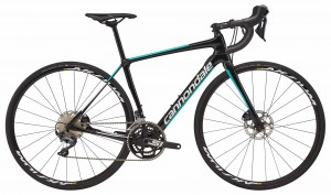 Rower Cannondale Synapse Carbon Disc Women's Ultegra jet black/turquoise 2018