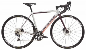 Rower Cannondale SuperSix Evo Disc Women's Ultegra silver/galaxy/coral 2018