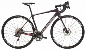 Rower Cannondale Synapse Carbon Disc Women's Ultegra Di2 galaxy/silver/coral 2018