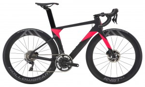 Rower Cannondale System Six Women's Hi-Mod Disc Dura Ace jet black/acid strawberry 2019