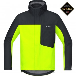 Kurtka Gore Wear C3 Gore-Tex Paclite Hooded Jacket neon yellow/black