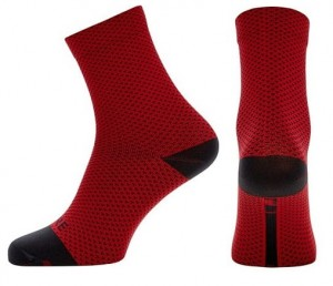 Skarpety rowerowe Gore Wear C3 Dot Mid Socks red/black