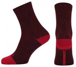 Skarpety rowerowe Gore Wear C3 Optiline Mid red/black