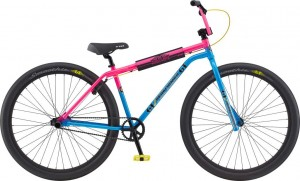 Rower GT BMX 29 Street Performer Heritage Gloss Dayglow Pink & Cyan w/ Black, Chrome & Yellow 2020