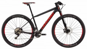 Rower Cannondale F-Si Carbon 3 jet black/acid red 2018