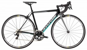 Rower Cannondale SuperSix Evo Women's 105 jet black/turquoise/cashmere 2018